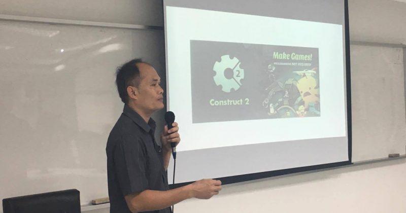 บรรยากาศการอบรมการพัฒนาเกมด้วยโปรแกรม Construct2 (พย. 60)